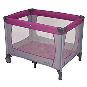 Evenflo Classic Playard, Purple, Grey