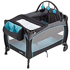 Evenflo Portable Baby Suite Deluxe, Koi, Blue, Grey, White
