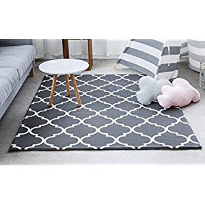 Little Bot baby play mat, non-toxic, odourless and ultra-cushioned. 180cm x 150cm. Prismatic and Moroccan (cool grey) by Little Bot