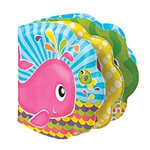 Playgro 0184165 Find The Fish Bath Book (Pink) for baby infant toddler