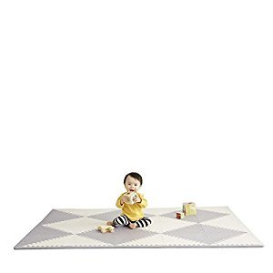 Skip Hop PlaySpot Geo Foam Floor Tiles, Grey/Cream