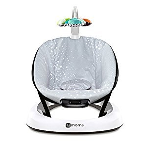 4Moms bounceRoo Bouncer Seat, Silver Plush