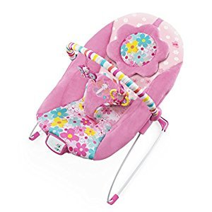 Bright Starts 60722 Pretty Butterfly Cut Outs Bouncer, Pink