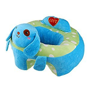 MonkeyJack Colorful Baby Support Seat Learn Sit Soft Chair Cushion Sofa Plush Pillow Toys - Blue Dog, as described