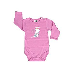 Moominmamma Baby Boys / Girls Romper, Bodysuit, Jumpsuit, Pyjamas with Long Sleeves (Pink) - 100% Cotton - (74 - 12-15 Month Old)
