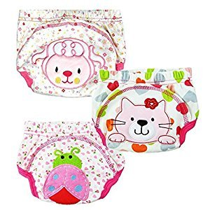 QMY 3pcs Baby Girl Infant Kids Training Pants Cloth Underwear Nappy (M)