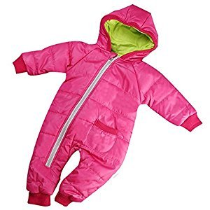 Winter Snowsuit - SODIAL(R)Winter Baby Girl Boy Kid Toddler Snowsuit Coat Jacket Jumper Outwear Clothes 1PC rose red 2-3 Years