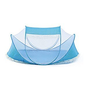 GUANGRUIDA Cute Baby Mosquito Net Beach Play Tent Travel Tent Bed Playpen (Blue)