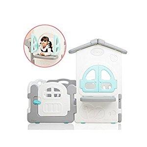 iFAM Shell BabyRoom Playpen Playard BABYHOUSE Set Gray&White (6PCS(House 1EA, Door 1EA, Gray 2EA, White 2EA))