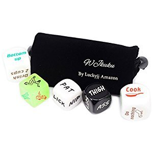 WJkuku Spicy Dice Sex Dice Love Dice for Couples Bachelor Party (Set of 5) (Fulfilled by Merchant)