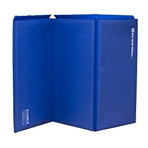 We Sell Mats Blue 2-Inch Thick 4-Feet by 6-Feet Gymnastics Tumbling Exercise Folding Martial Arts Mats with Hook and Loop Fasteners on 4 Side Crosslink PE Foam Core