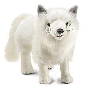 Folkmanis Puppets Arctic Fox Hand Puppet, White