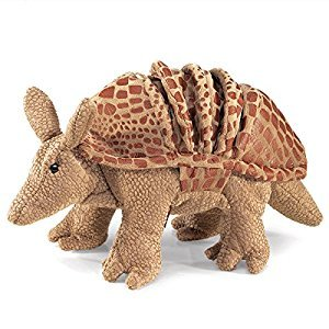 Folkmanis Puppets Armadillo Hand Puppet, Brown