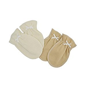 American Baby Company 88027 TL Care Organic Cotton Mittens (Natural)