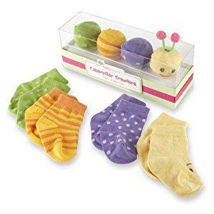 Baby Aspen Caterpillar Crawlers Baby Socks Gift Set, 0-6 Months