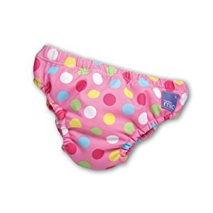 Bambino Mio Swim Nappy, Pink Spots, 11-16 Lbs, 1-Pack
