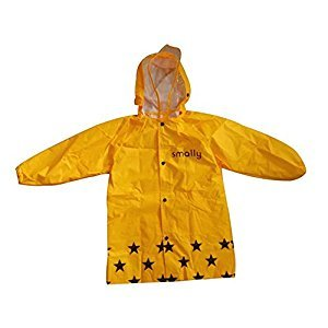 Cute Baby Rain Jacket Infant Raincoat Toddler Rain Wear YELLOW Zebra M