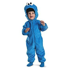 Disguise Costumes Cookie Monster Deluxe Two-Sided Plush Jumpsuit Costume, Small (2T)