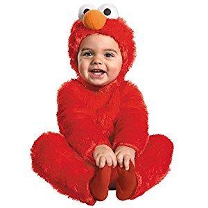 Infant Toddler Sesame Street Elmo Comfy Fur Costume Size 12-18 Months