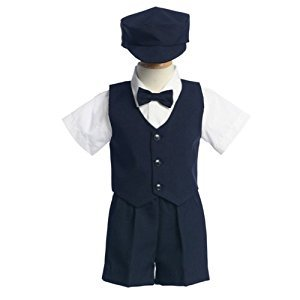 Lito Toddler Boys Navy Vest Shorts Easter Ring Bearer Suit 3T