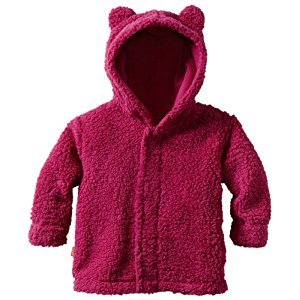 Magnificent Baby Hooded Bear Jacket, 0-6 Months, Raspberry