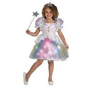 Rubies Costume Co Twinklers Rainbow Ballerina with Fiber Optic Skirt, Child's Small