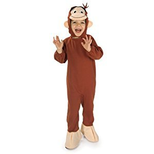 Rubies Curious George Costume, Monkey, Toddler