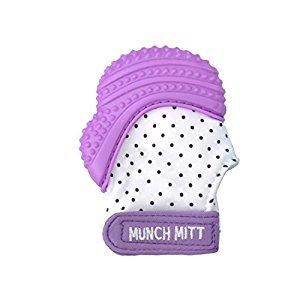 Munch Mitt Baby Teething Mitten - Purple