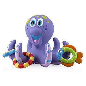 Nuby Bath Time Toss (Octopus Floating Bath Toy), Purple