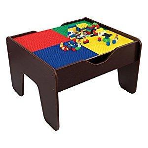 KidKraft 17577 2-in-1 Activity Table, Espresso