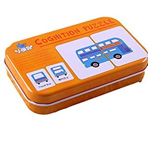 Misciu Infant Early Head Start Training Puzzle Cognitive Card Baby Toys Transportation Cognitive