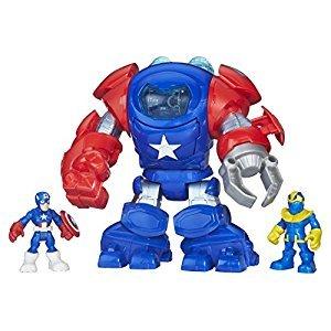 Super Hero Adventure Captain America Armor Figure
