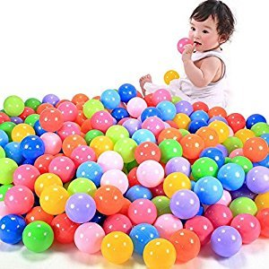200Pcs Multicolor Baby Kid Child Swim Pit Toy Round Soft Plastic Ocean Ball Random Color