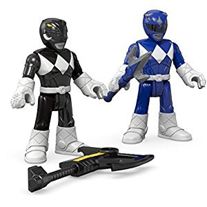 Fisher-Price Imaginext Power Rangers Blue Ranger & Black Ranger Figures