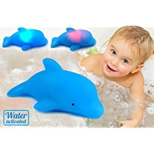 Baby Kids Bath Toy LED Flashing Dolphin Light Lamp