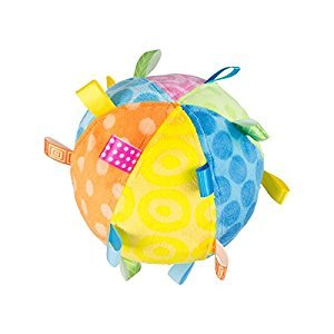 Mary Meyer Plush Toss The Taggies Chime Ball, Colors