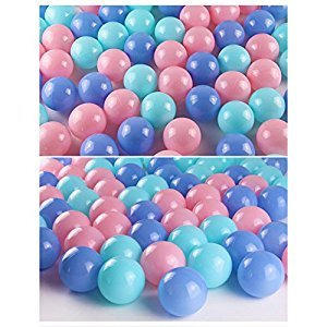 Pretty Color Pit Balls ,Funny Phthalate Free BPA Proof Ocean Balls Toys for Toddlers and Babies,Soft Plastic Air-Filled Palyballs for Kids Gift (5.5cm(200pcs))