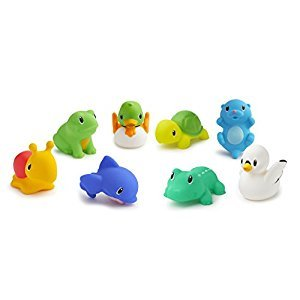 Munchkin 14804 Lake Buddies Bath Tub Toy, 8 Squirtin