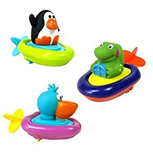 TOYMYTOY 3pcs Pull String Animal Bath Toy Educational Water Toys Gift for Kids's Water Party and Bathtub Fun
