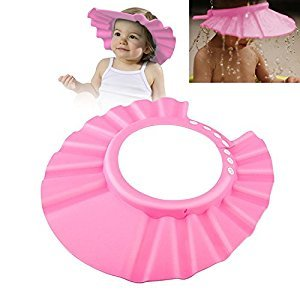 Zodaca Soft Safe Shampoo Shower Bathing Protect Cap Hat for Baby Kids Children Toddle, Pink