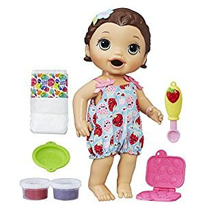 Baby Alive Super Snacks Snackin' Lily Brunette Doll