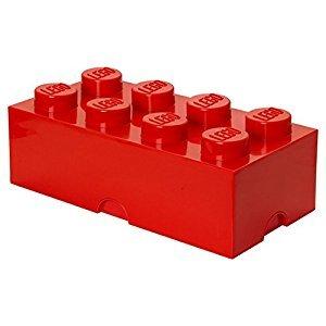 Lego Storage Brick 8 Bright Red