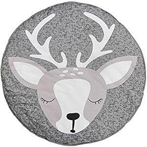 FANOUD Baby Cartoon Creeping Mat Playmat Blanket Play Game Mat Room Decoration (Gray A)