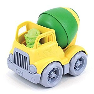 Green Toys CMXG-1263 Mixer Construction Truck Toy, Yellow & Green