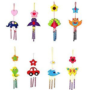 Kids Wind Chimes Aeolian Bells Toys Child Educational Puzzle Hanging Toys DIY Craft Kits
