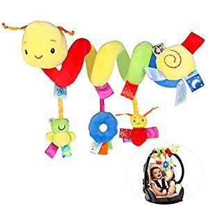 NUOLUX Kid Baby Crib Cot Pram Hanging Rattles Spiral Stroller Car Seat Toy with Ringing Bell