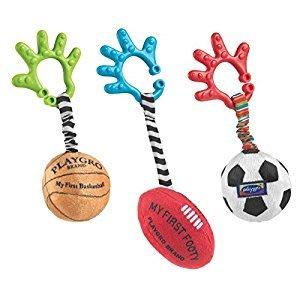 Playgro Baby Sports Balls, Set of 3, Basketball/Football/Soccer Ball Toy