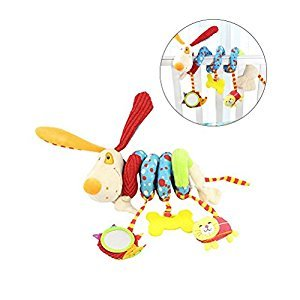 Yeahibaby Puppy Dog Baby Infant Crib Toy Wrap Around Crib Rail Toy Stroller Toy Cute Baby Educational Plush Toys