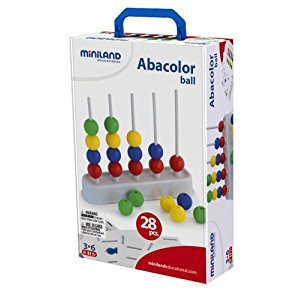 Miniland Abacolor with 1 Abacus and 28 Balls in Suitcase