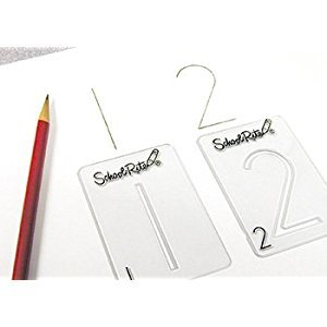 School-Rite Number Templates, Giant Number Set